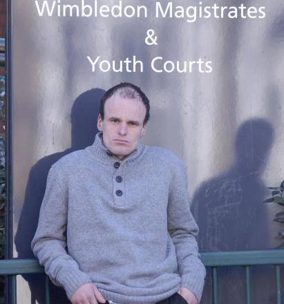 Richard Darvil outside Wimbledon Magistrates' Court today