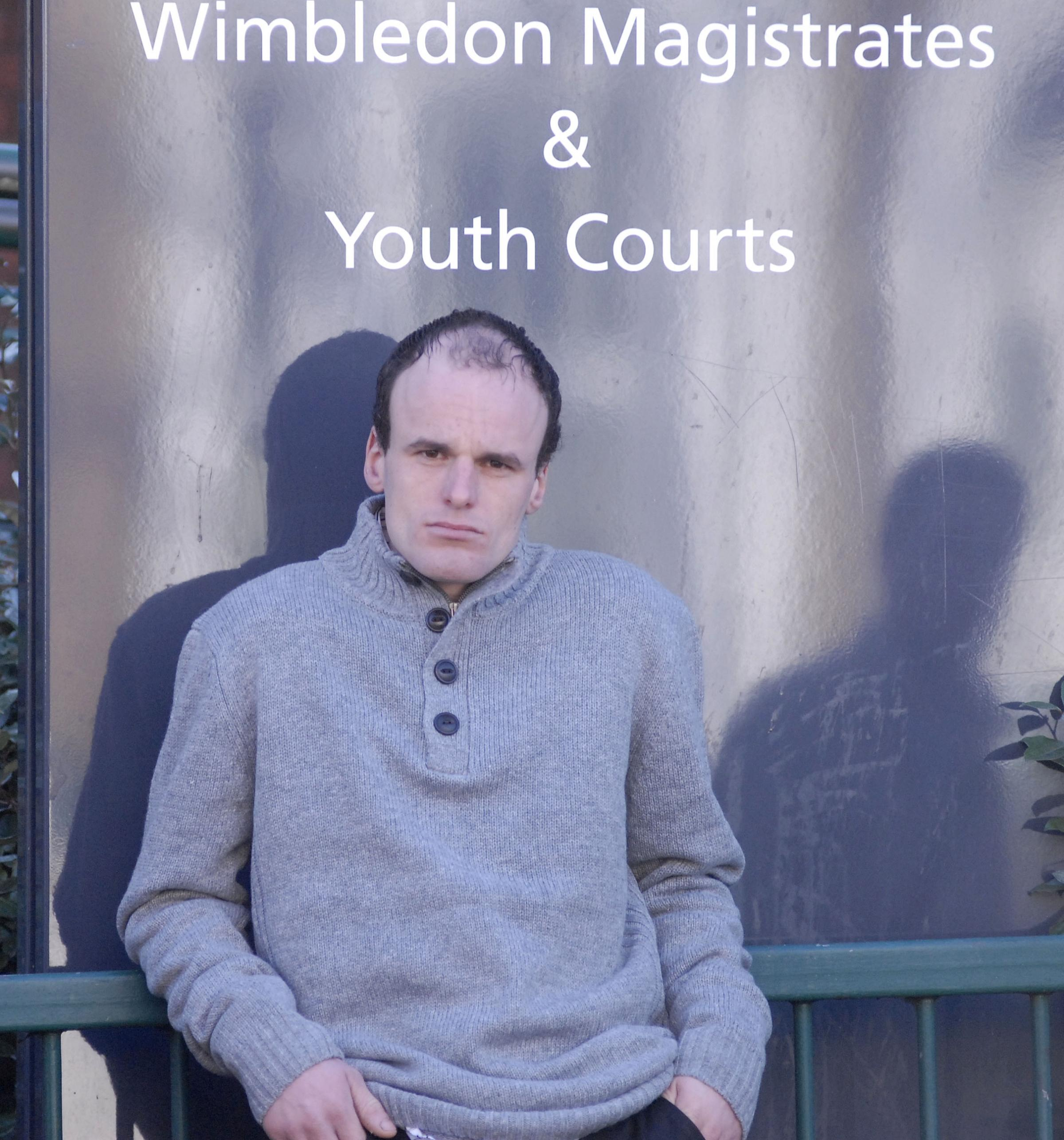 Richard Darvil outside Wimbledon Magistrates' Cou