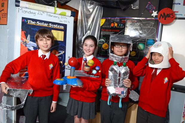 Children at St Andrew's and St Mark's School take part in science week