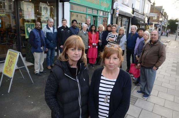 Surrey Comet: Shopkeepers and staff in Burlington Road are angry about the new parking scheme