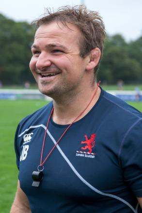 Happy trails: James Buckland is more than excited about becoming the permanent head coach at London Scottish
