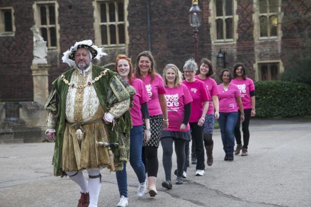 By order of the king: Take part in the Pinkribbon Walk