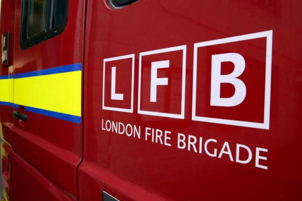 Firefighters were called to Grand Drive, Raynes Park at about 11am on May 7