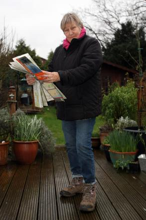 YMCA senior walking group leader Jill Lawrence in her garden in Berrylands