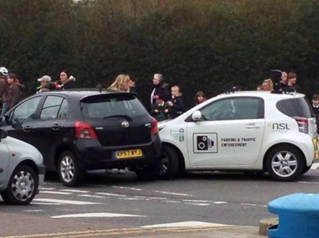 The crash in Chessington yesterday
