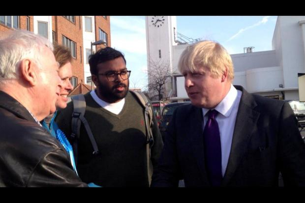 Boris Johnson in Surbiton: