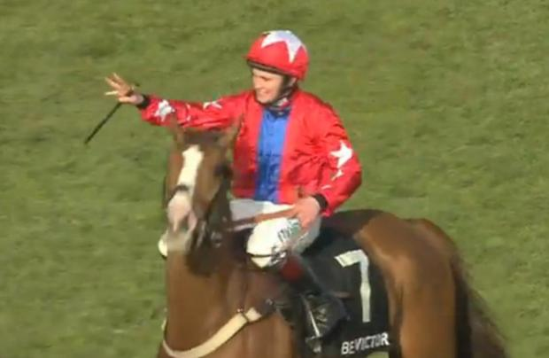 Sire De Grugy romped home at Cheltenham this week. (Picture: YouTube/Racing UK)