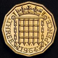 Surrey Comet: The reverse side of a 12-sided three-pence piece which was in circulation from 1937 until decimalisation in 1971 (PA/HM Treasury)