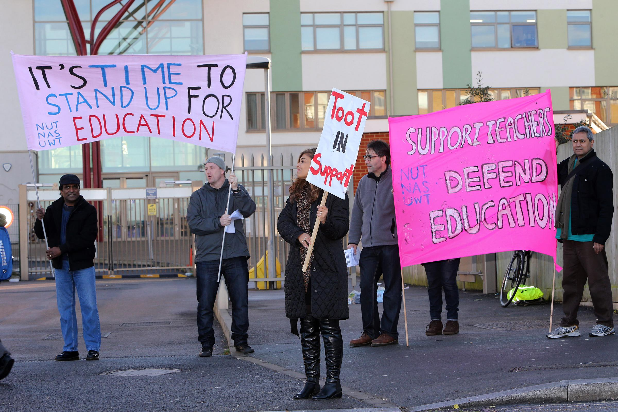 The strike has been called by the National Union of Teachers (NUT) over pay.