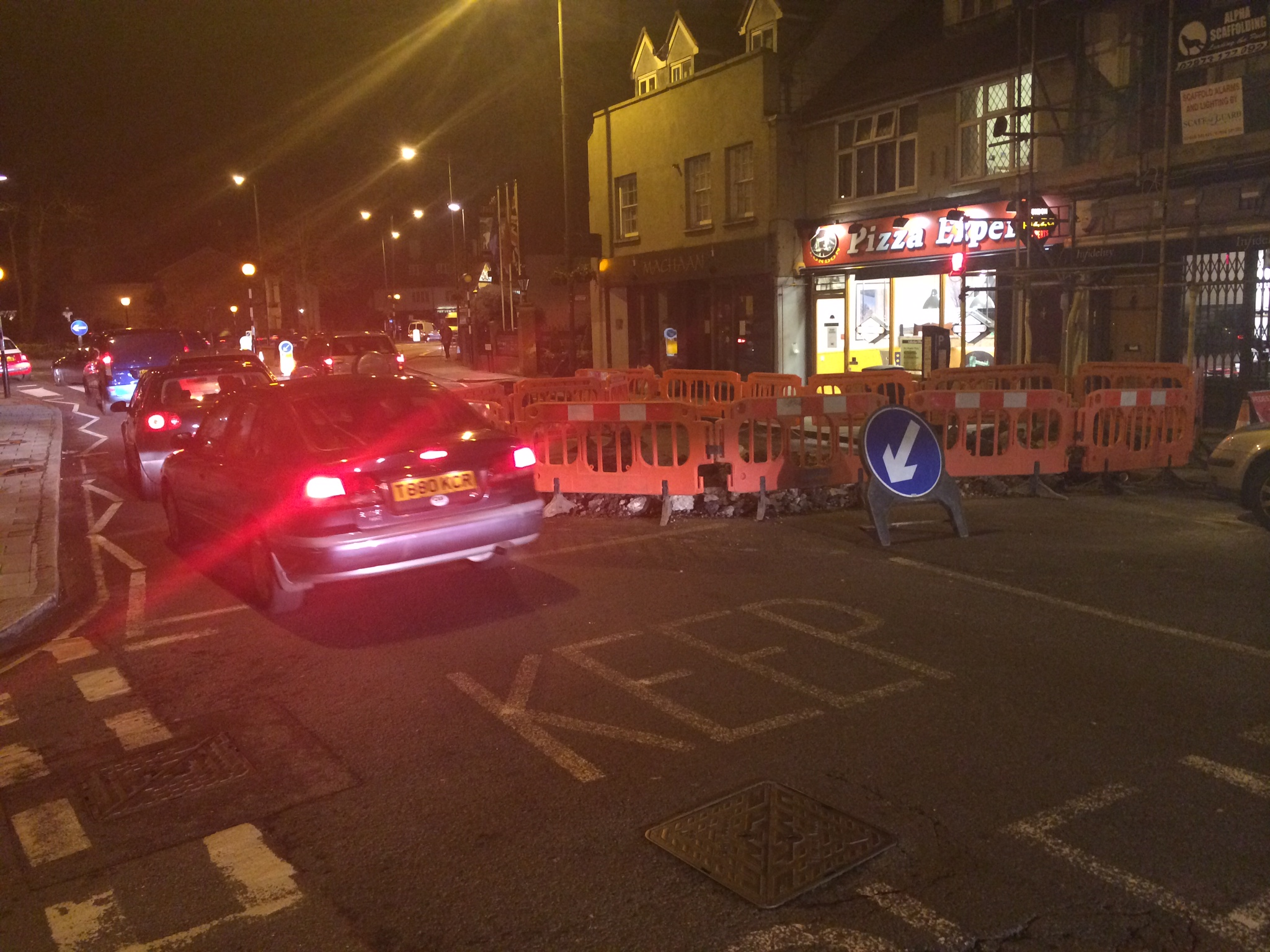 Roadworks in Hampton Wick