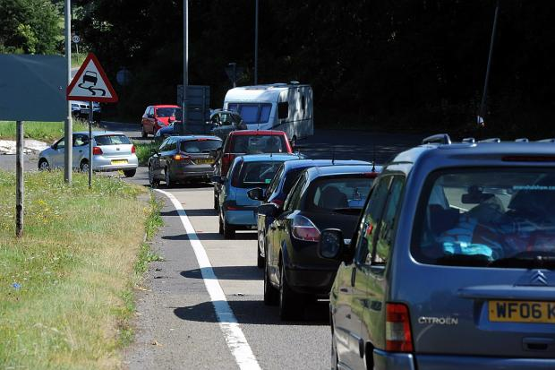 Long queues are being reported on the Southbound A3