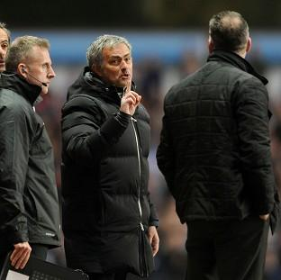 Surrey Comet: Jose Mourinho was unhappy with the way his side's match at Aston Villa was refereed