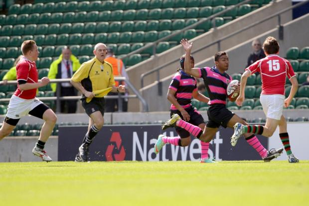 At the home of rugby: Graveney School in action at Twickenham