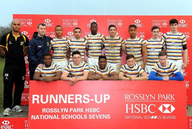 Runners up: Purley-based John Fisher School missed out in the Rosslyn Park HSBC National Sch