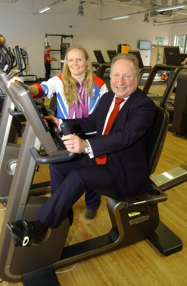 Surrey Comet: Susie Rodgers and Cllr Peter Kotz at Charlton Lido's relaunch