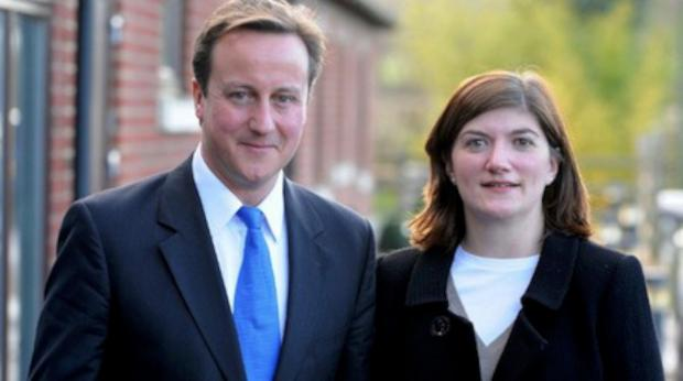 Prime Minister David Cameron with Nicky Morgan