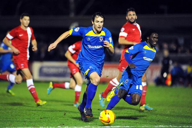 He's a loan man: Danny Hylton scored on his debut against Hartlepool in January                SP82538