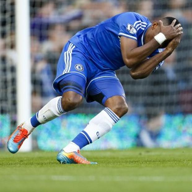 Surrey Comet: Samuel Eto'o reacts after a missed shot during the defeat to Sunderland