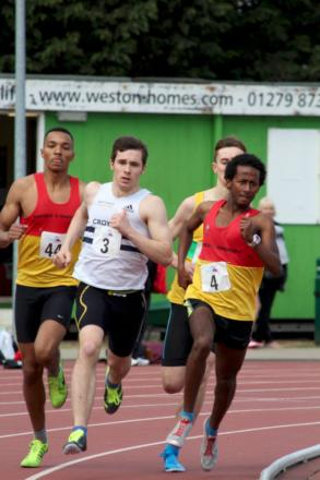 Young up start: Croydon Harriers' Patrick Lucas in action at Saturday's UK Youth Development League Premier Two meeting
