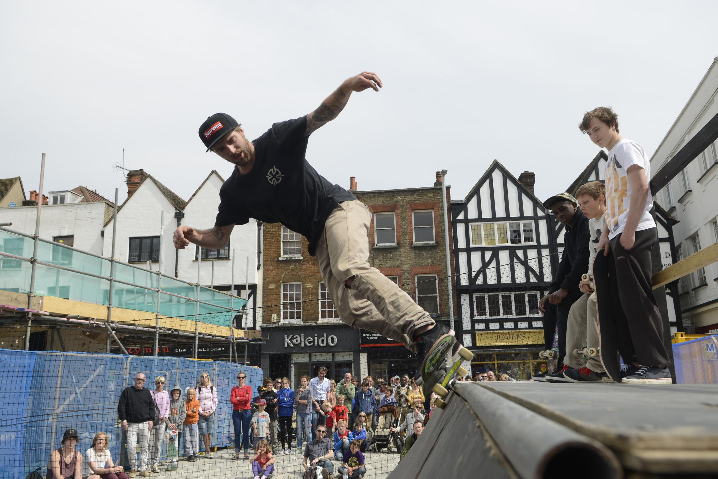 Skater Ewen Bower at the festival