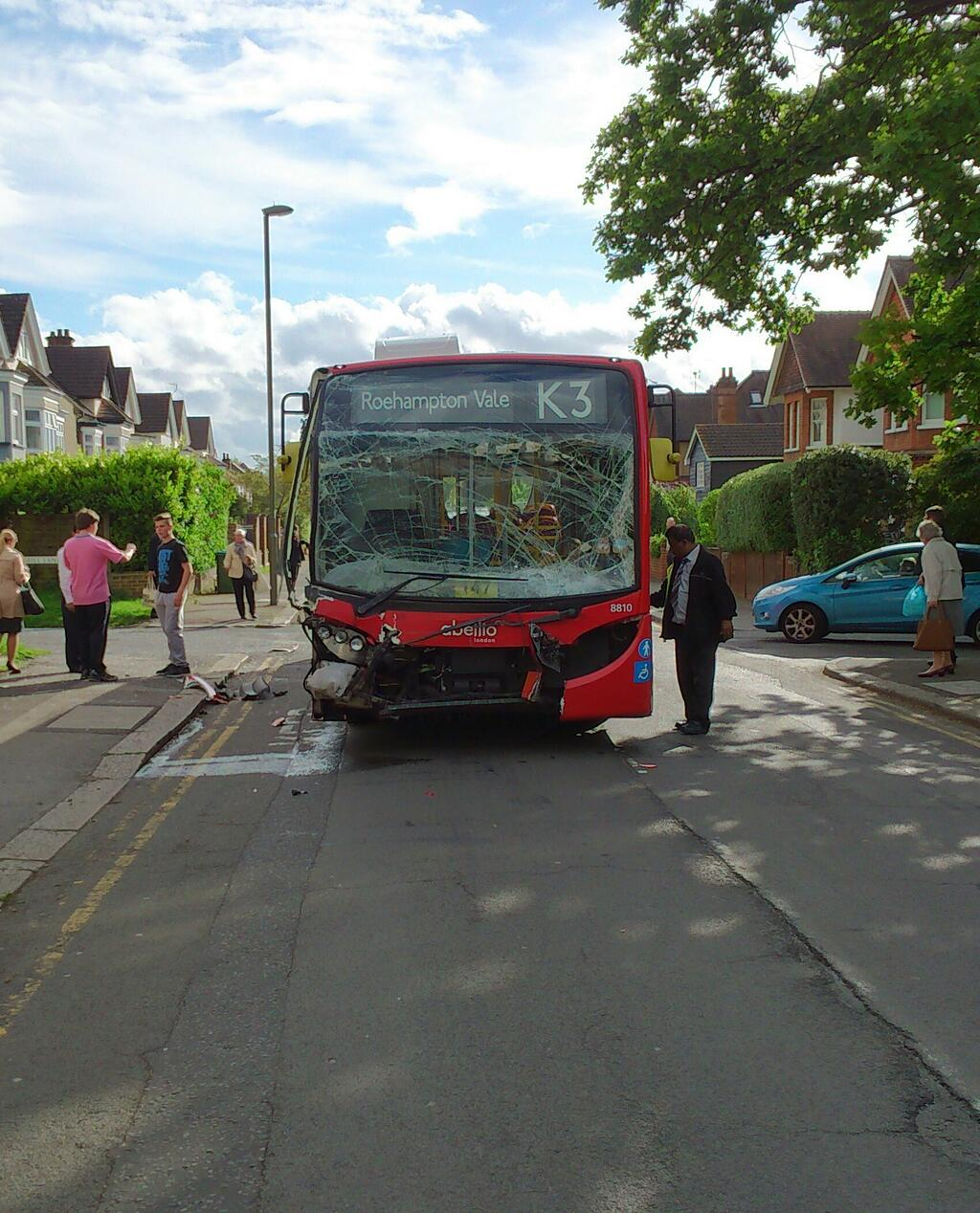 Bus smashes into van in Long Ditton leaving passengers stunned and 'person taken to hospital'