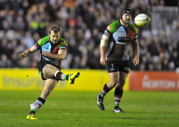Surrey Comet: The force is with you: Quins fly half Nick Evans        Picture: Garry Bowden/Pinnacle