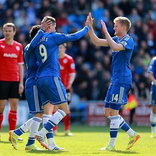Chelsea's Fernando Torres, left, scored his first Premier League goal since January