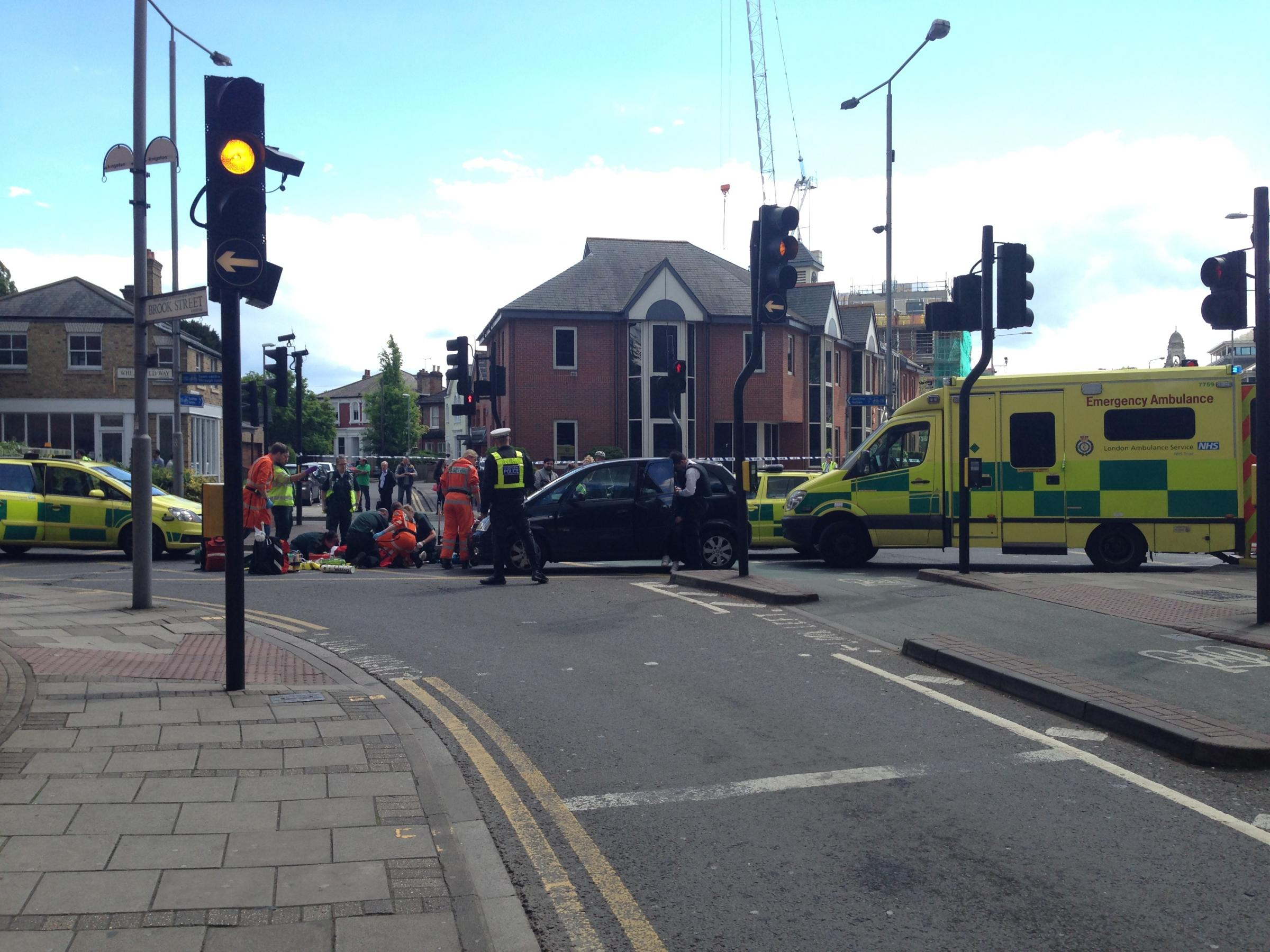Woman 'in her 50s' hit by a car in Kingston town centre