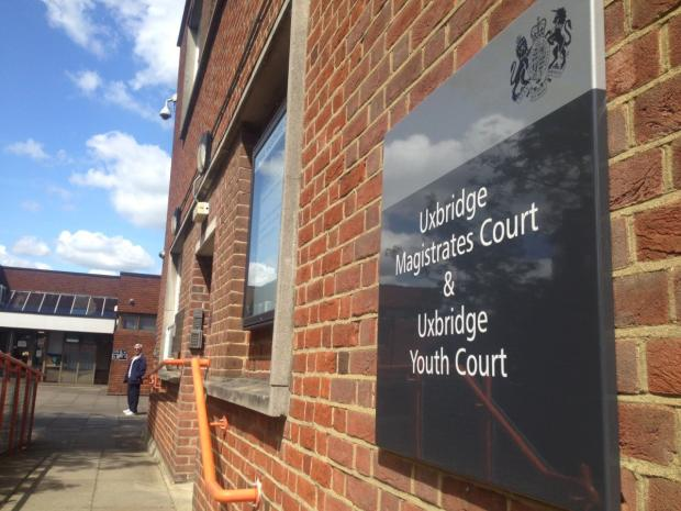 Uxbridge Magistrates' Court: The boy spoke only to confirm his name and address