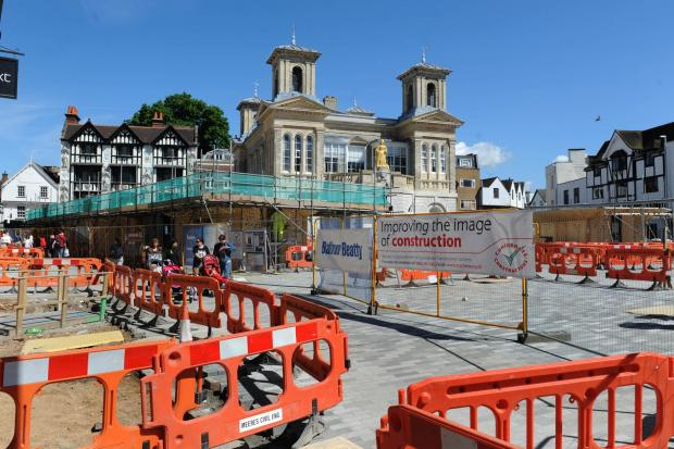 Surrey Comet: Kingston's ancient market place will partly re-open on Monday