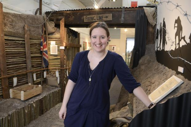 Project leader Lucy Harris at Kingston Museum