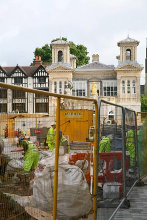 Kingston's revamped ancient market place is still to be finished