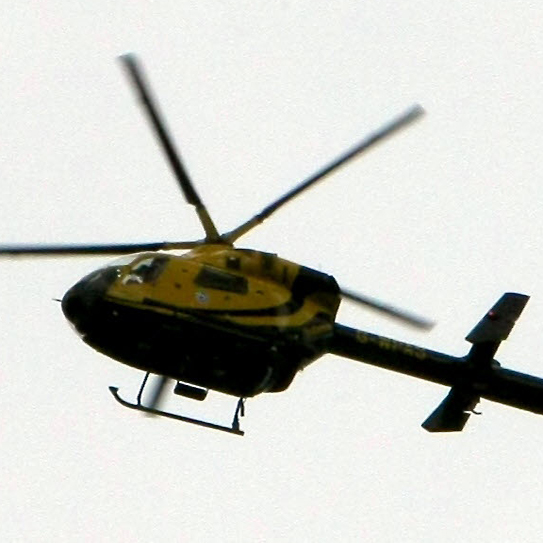 Arrest after police helicopter was 'lasered' hovering above rooftop gathering