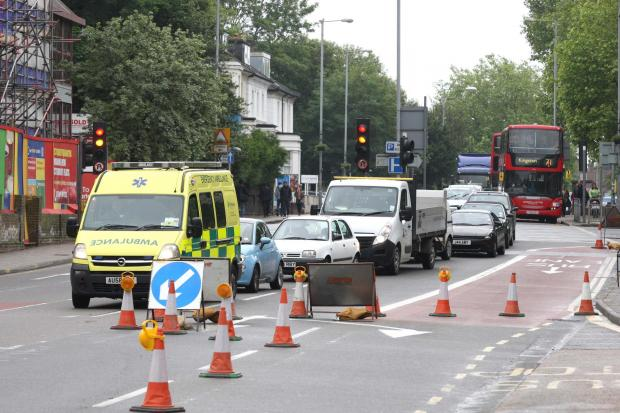Roadworks: causing traffic jams