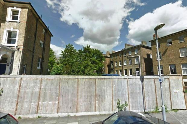 The vacant lot in St Philip's Road. Photo: Google