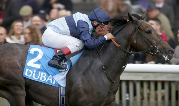 Kingston Hill and jockey Andrea Atzeni, pictured here winning the Autumn Stakes, have been tipped to win this year's Derby by the Amato pub's wishing well