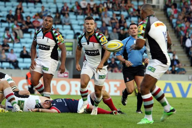 Rising star: Quins prop Kyle Sinckler, left, will benefit from a trip to face the All Blacks