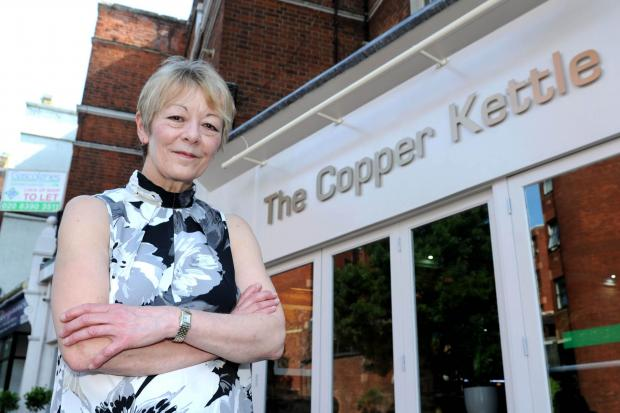 Surrey Comet: Landlord Madeline Bartley outside the newly named Copper Kettle