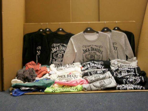 Hooky: Fake T-shirts on display