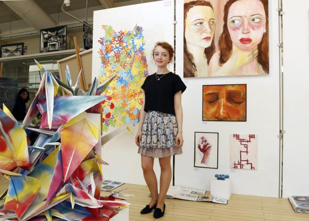 Surrey Comet: Becky Guthrie, 17, has created sculpture and paintings for the exhibition