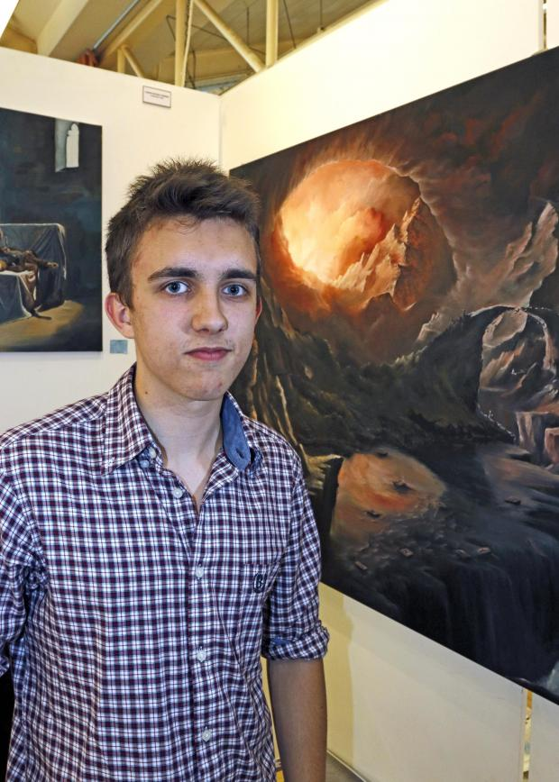 Surrey Comet: Christopher O'Brien's paintings have originated from philosophical themes