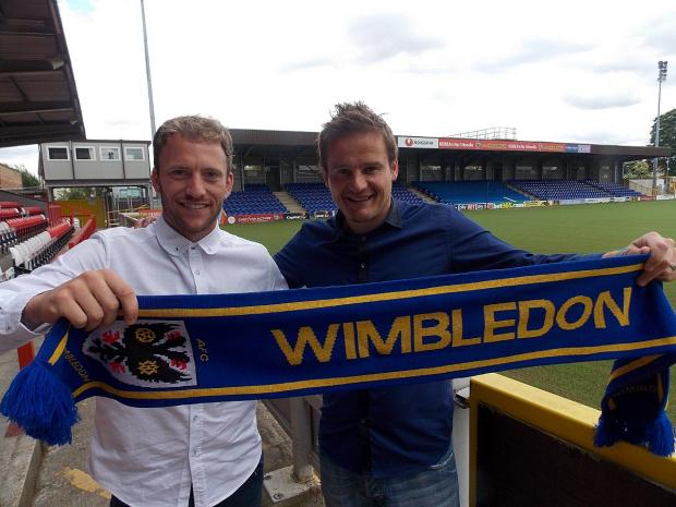Surrey Comet: Me and the gaffer: Dons new boy Sean Rigg with Neal Ardley