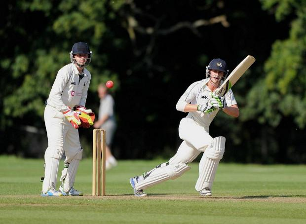 Up and running: Teddington's Nick Gubbins in action for Middlesex second team