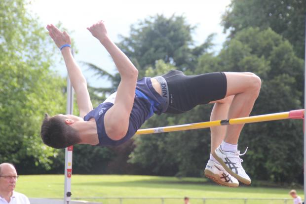 High times: Ocean Schwartz won the intermediate boys high jump at Saturday's Surrey School Championships