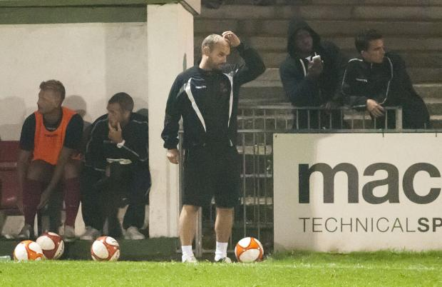 In need of support: New Ks boss Tommy Williams during a tricky spell at Carshalton Athletic