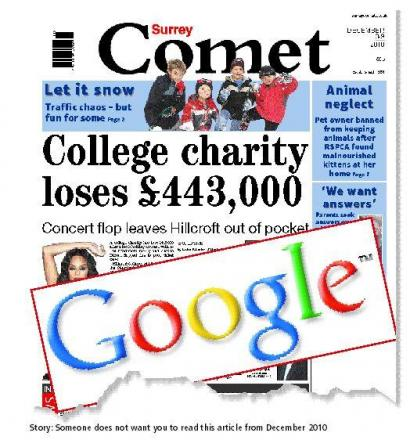 Surbiton college fundraising fiasco story among first 'right-to-be-forgotten' Google requests