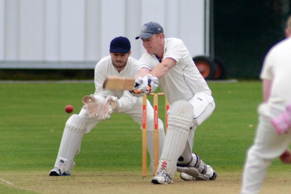 Among the runs: Worcester Park's Rob Waite on his way to 88 in the losing draw against Dulwich