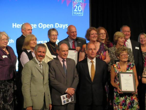 Jennifer Butterworth, back row, third from left with fellow award winners and officials at the Heritage Open days awards