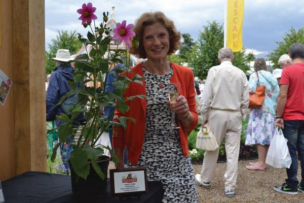 Green-fingered pub landlady has flower named after her at Hampton Court show