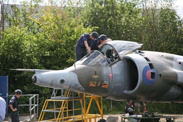 To be removed: The squadron's beloved Harrier